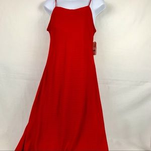NEW Faded Glory Red Strappy Sundress Siz Med